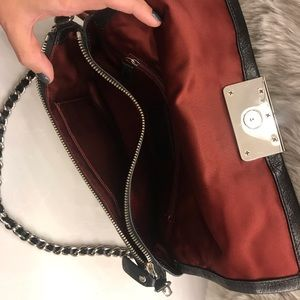 Coach Bags - COACH - Black Leather Clutch w/ Removable Chain